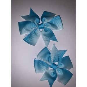 Blue Faded Hair Bows 💙